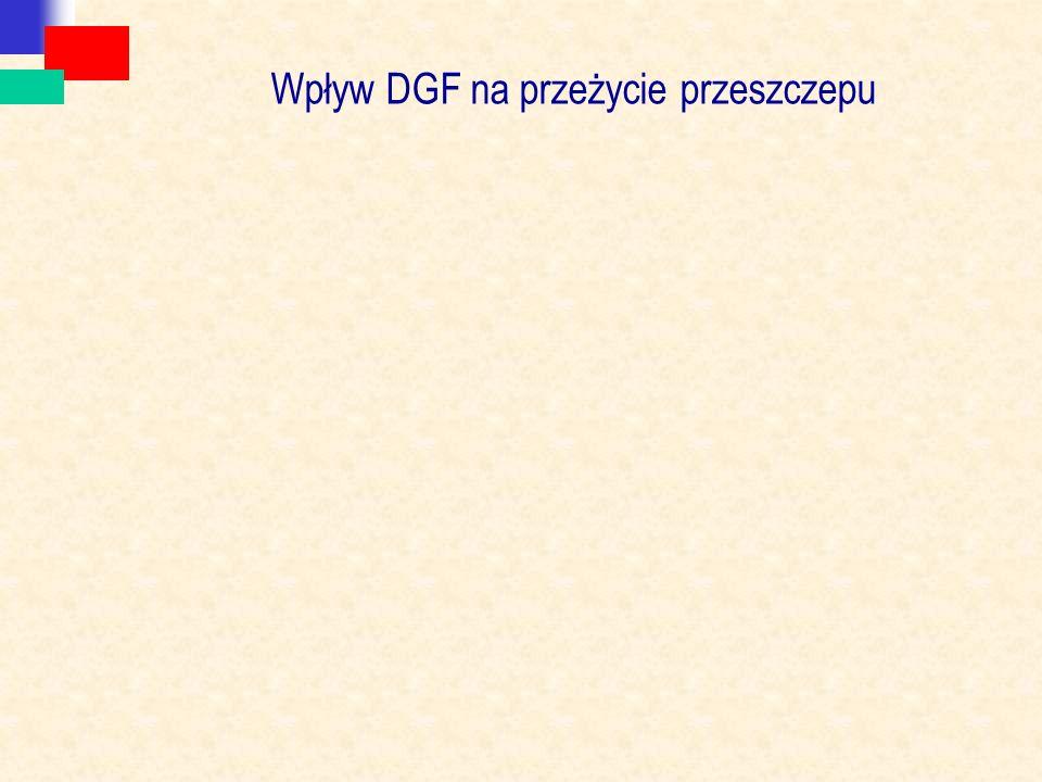 Wpływ DGF na przeżycie przeszczepu