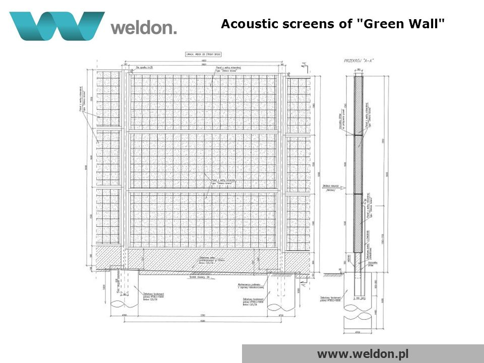 www.weldon.pl Acoustic screens of Green Wall