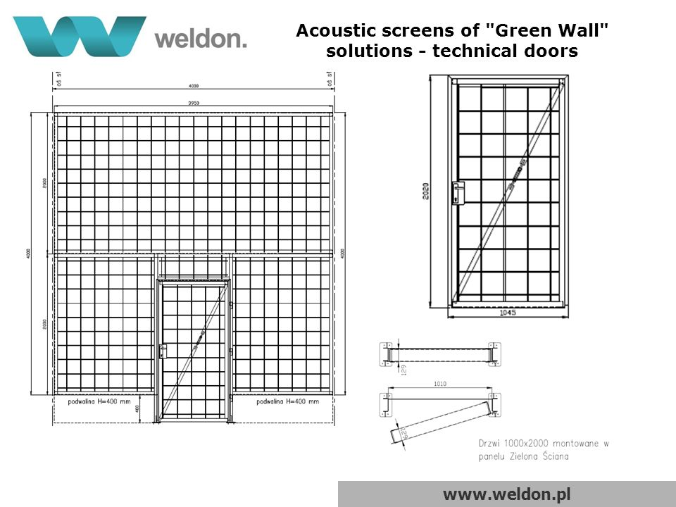 www.weldon.pl Acoustic screens of Green Wall solutions - technical doors
