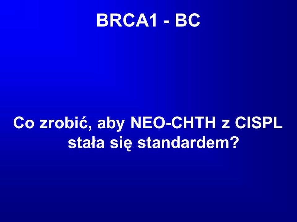 BRCA1 - BC Co zrobić, aby NEO-CHTH z CISPL stała się standardem?