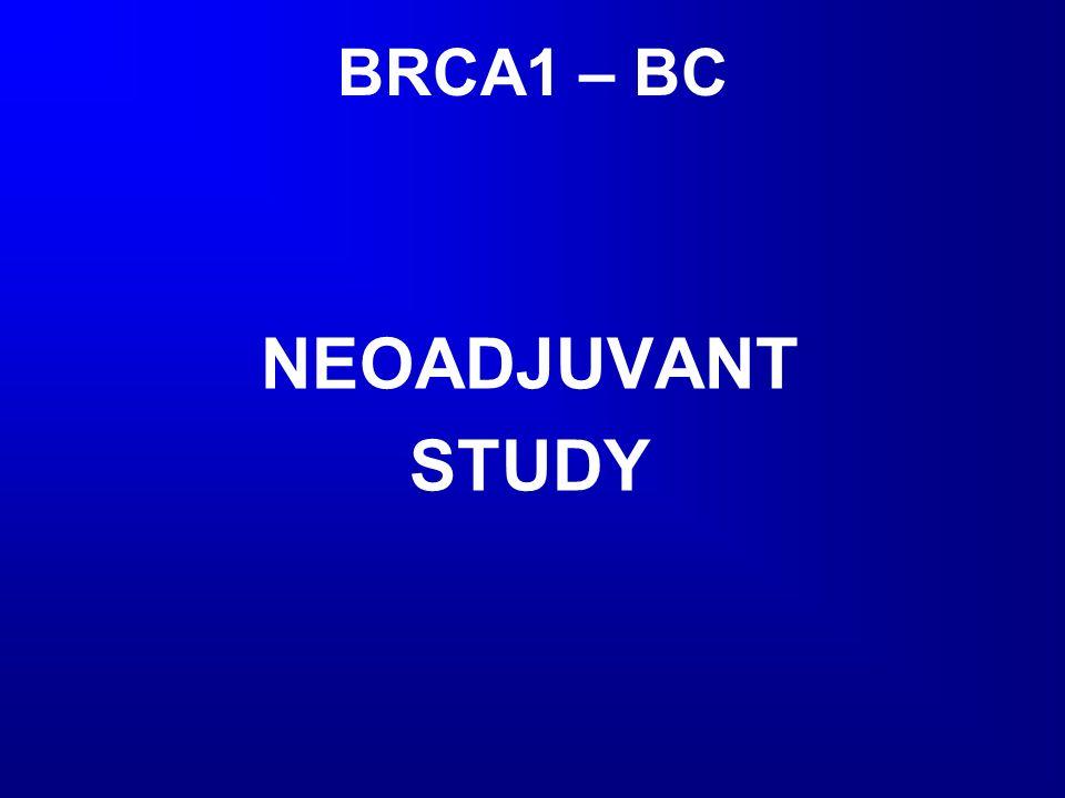 BRCA1 – BC NEOADJUVANT STUDY