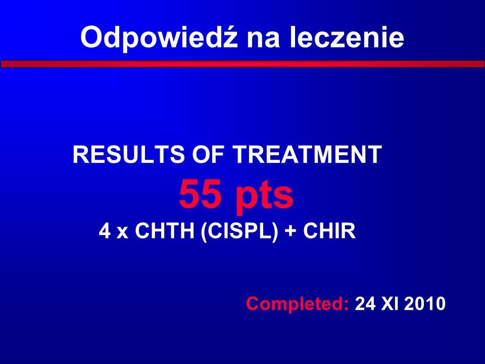 Response to treatment (n=55)