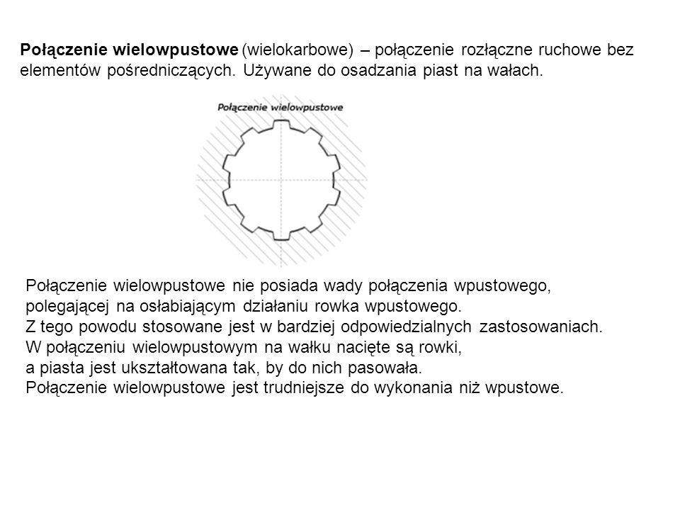 Połączenie wielowpustowe (wielokarbowe) – połączenie rozłączne ruchowe bez elementów pośredniczących.