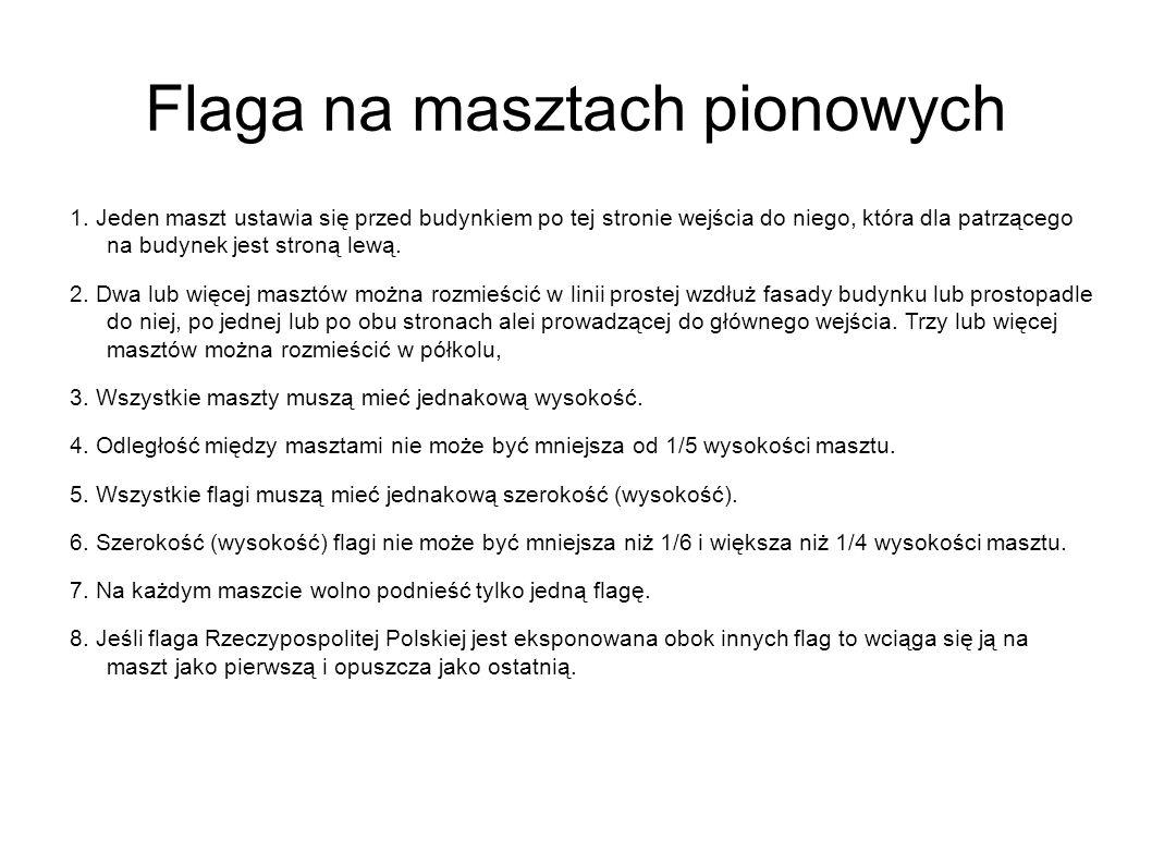 Flaga na masztach pionowych 1.