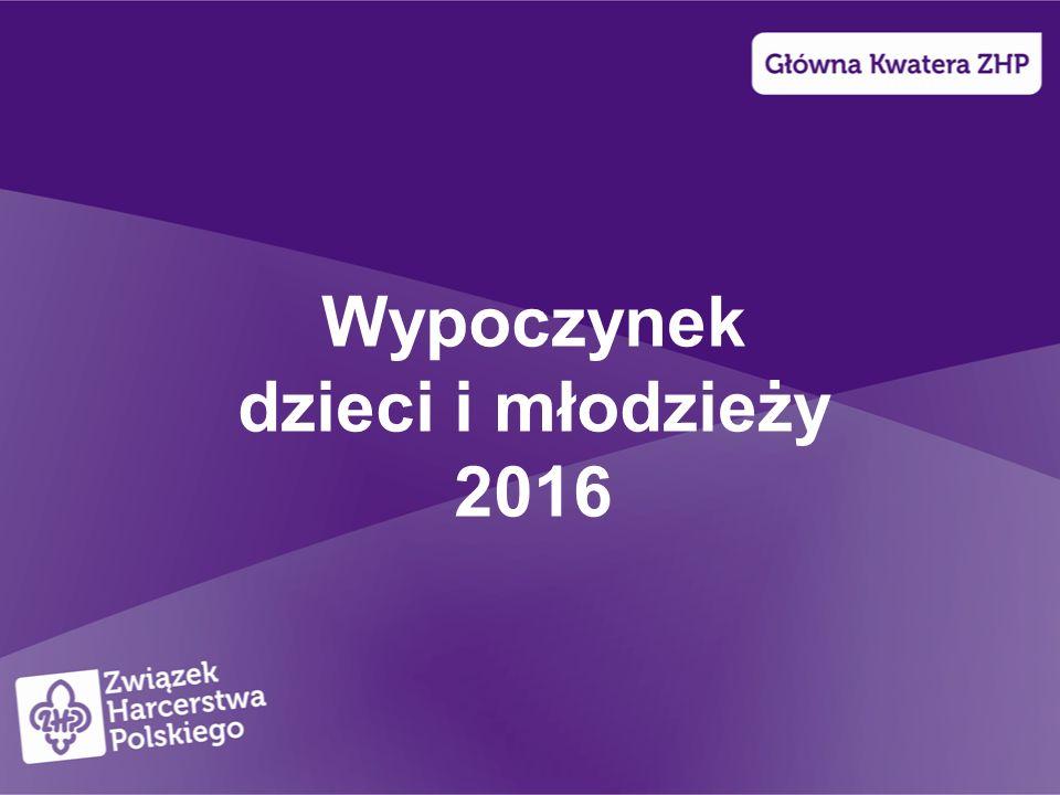 Wypoczynek dzieci i młodzieży 2016