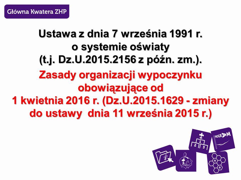 Ustawa z dnia 7 września 1991 r. o systemie oświaty (t.j.