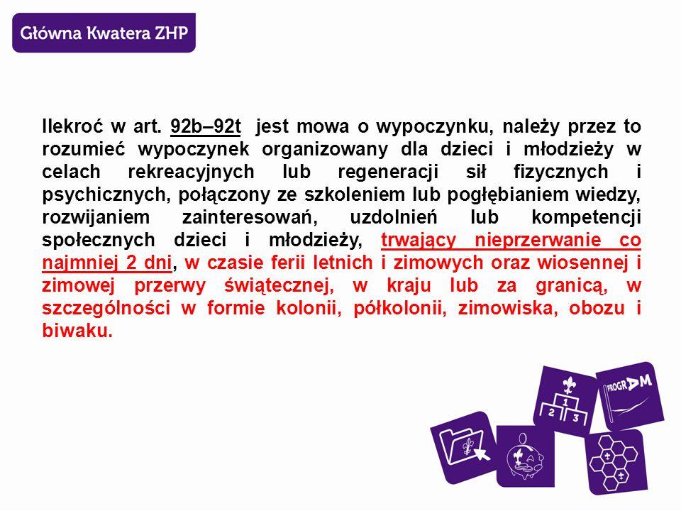  Art.96a. – uregulowania dot.