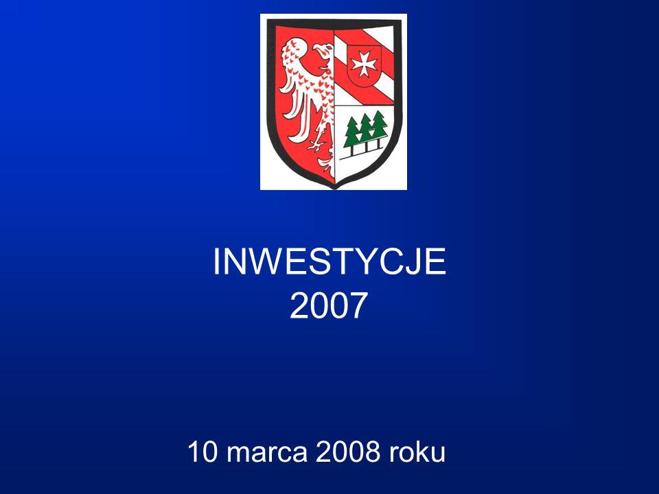 INWESTYCJE 2007 10 marca 2008 roku