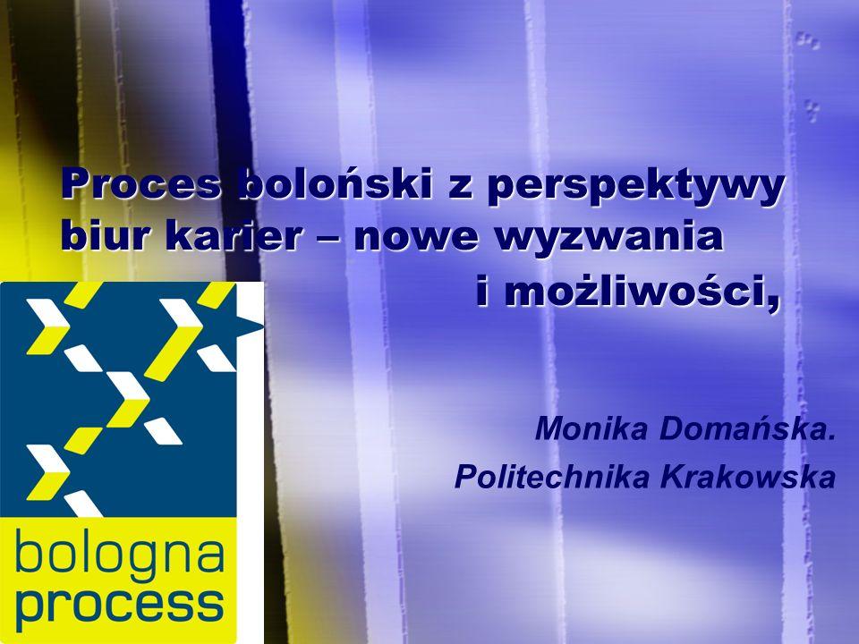 Proces boloński z perspektywy biur karier – nowe wyzwania i możliwości, Monika Domańska.