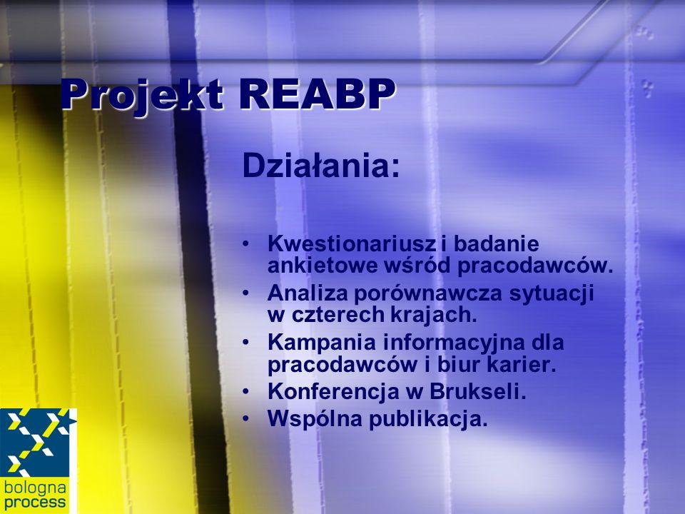 Projekt REABP Działania: Kwestionariusz i badanie ankietowe wśród pracodawców.