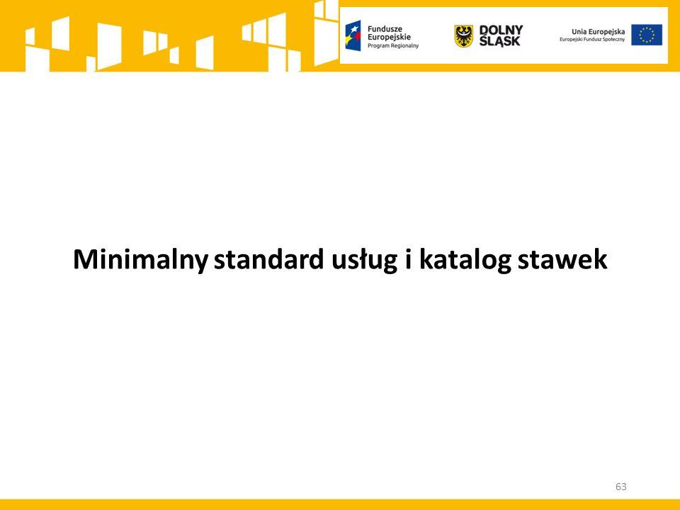 Minimalny standard usług i katalog stawek 63