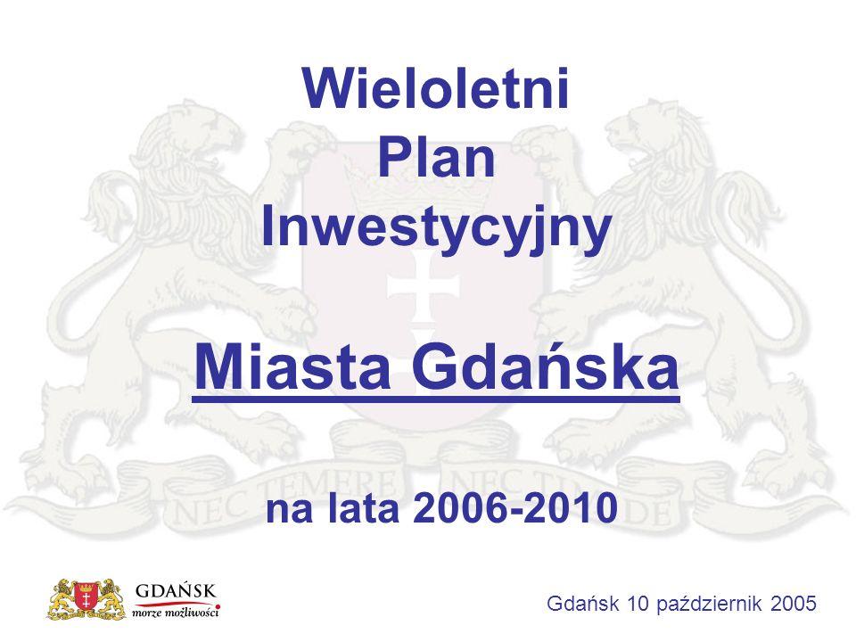 Wieloletni Plan Inwestycyjny Miasta Gdańska na lata 2006-2010 Gdańsk 10 październik 2005