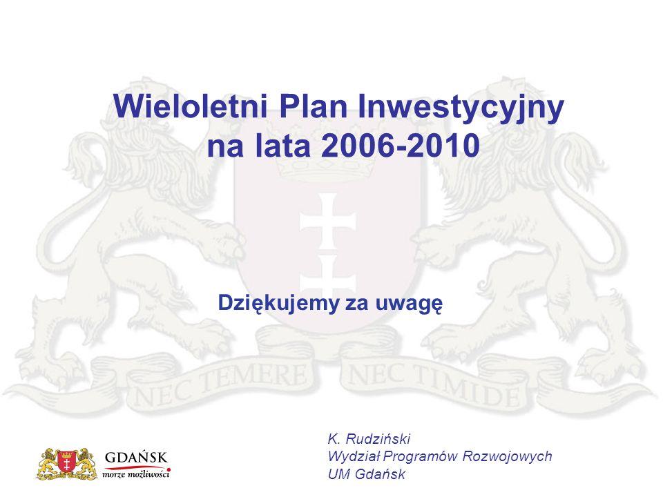 Wieloletni Plan Inwestycyjny na lata 2006-2010 K.