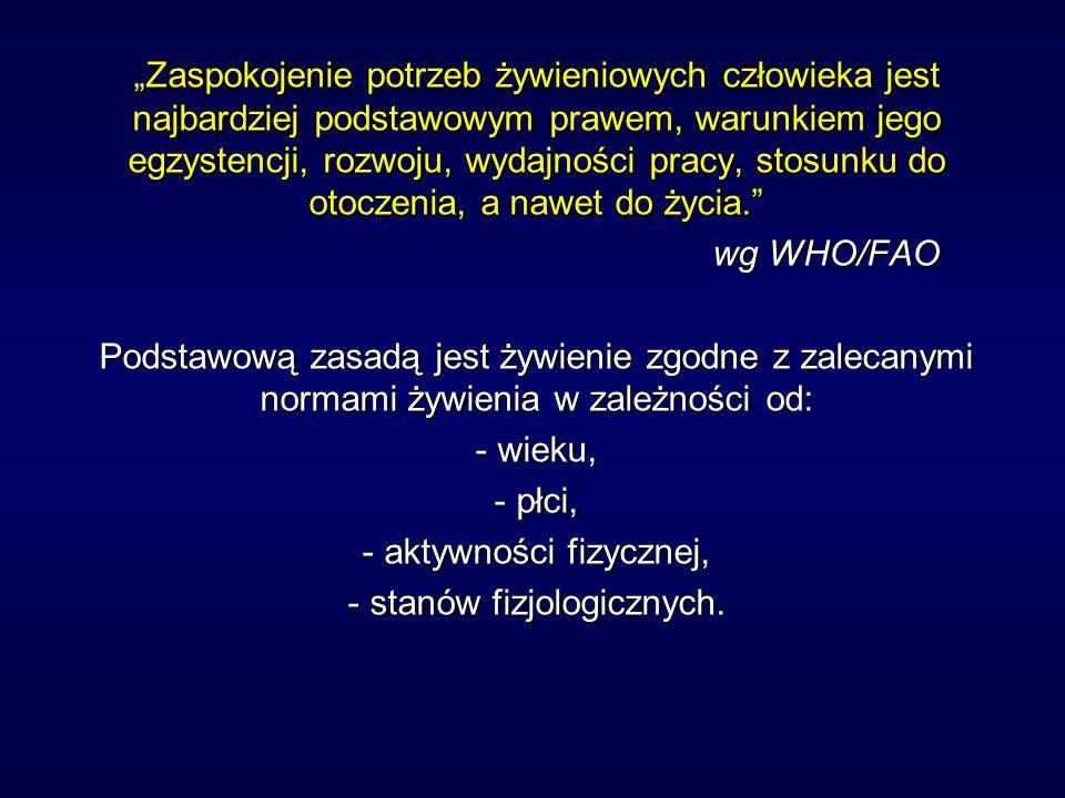 Podstawowe zalecenia dla żywności w Polsce 1.