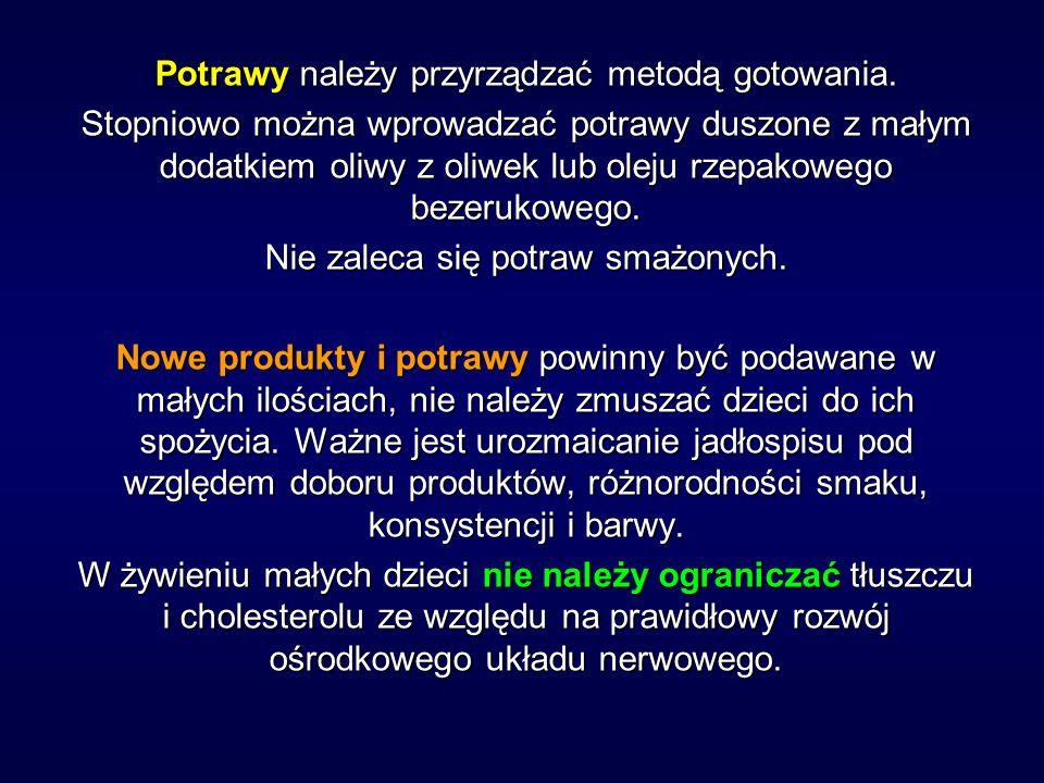 Zgodnie z Polskim Consensusem Tłuszczowym dzieciom do 3 lat nie należy ograniczać tłuszczu.