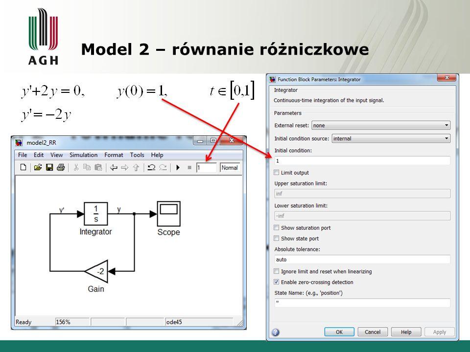 Model 2 – równanie różniczkowe