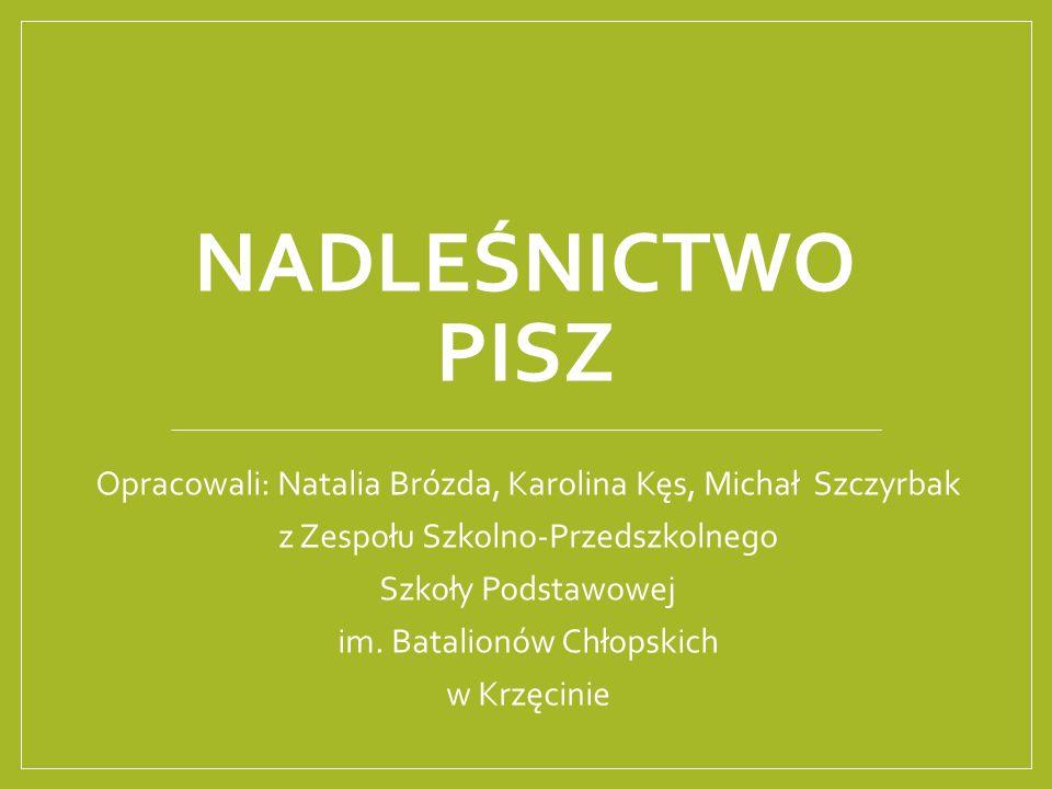 NADLEŚNICTWO PISZ Opracowali: Natalia Brózda, Karolina Kęs, Michał Szczyrbak z Zespołu Szkolno-Przedszkolnego Szkoły Podstawowej im.