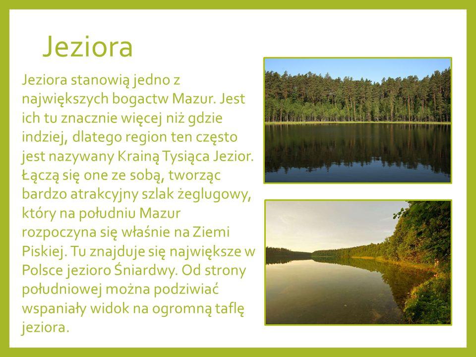 Jeziora Jeziora stanowią jedno z największych bogactw Mazur.