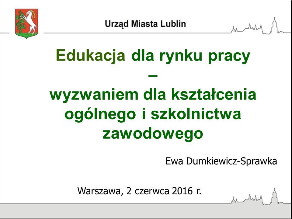 Edukacja dla rynku pracy – wyzwaniem dla kształcenia ogólnego i szkolnictwa zawodowego Warszawa, 2 czerwca 2016 r.