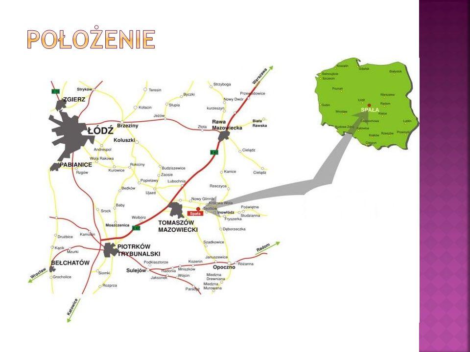  Lasy Nadleśnictwa Spała położone w województwie łódzkim, w powiecie tomaszowskim, na terenie ośmiu gmin: Budziszewice, Czerniewice, Inowłódz, Luboch