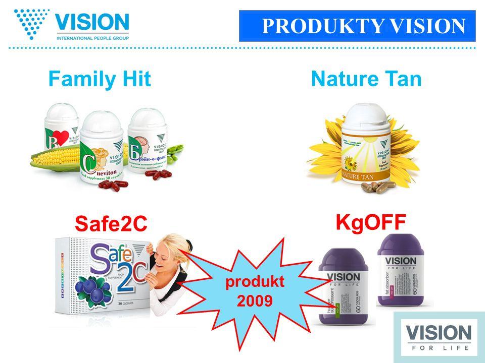 Продукты Vision Family HitNature Tan KgOFF Safe2C produkt 2009 PRODUKTY VISION