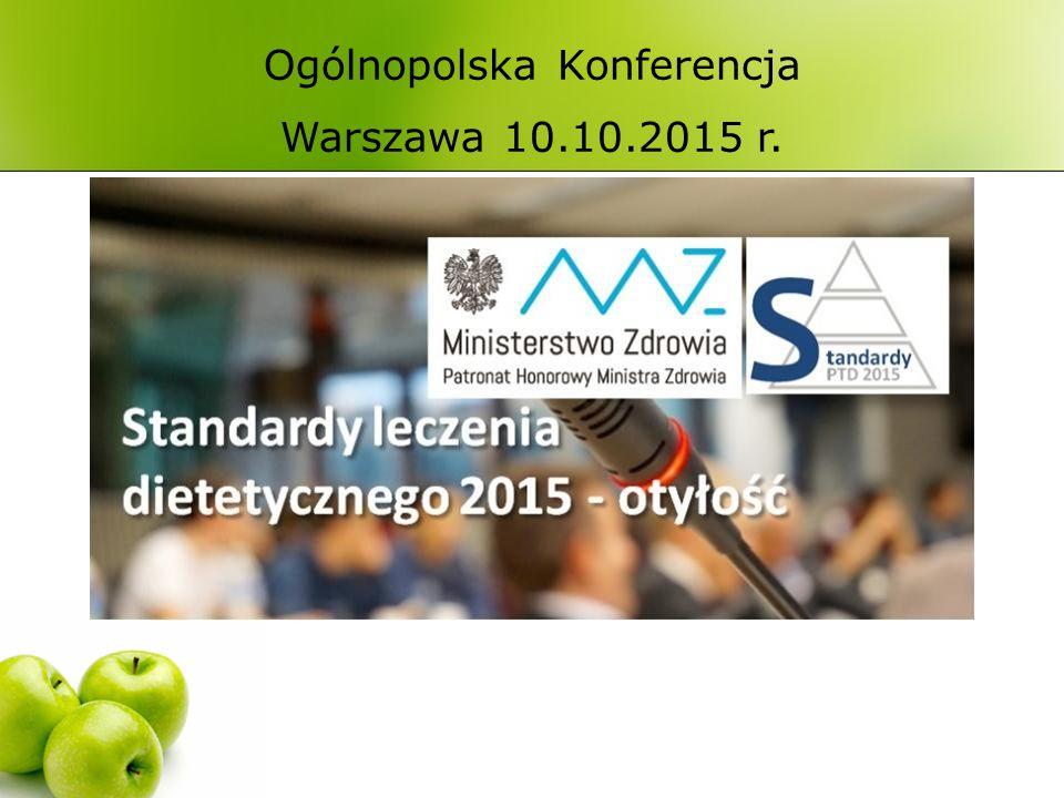 Ogólnopolska Konferencja Warszawa 10.10.2015 r.ROK 2014: 1,9 miliarda ludzi otyłych na świecie.