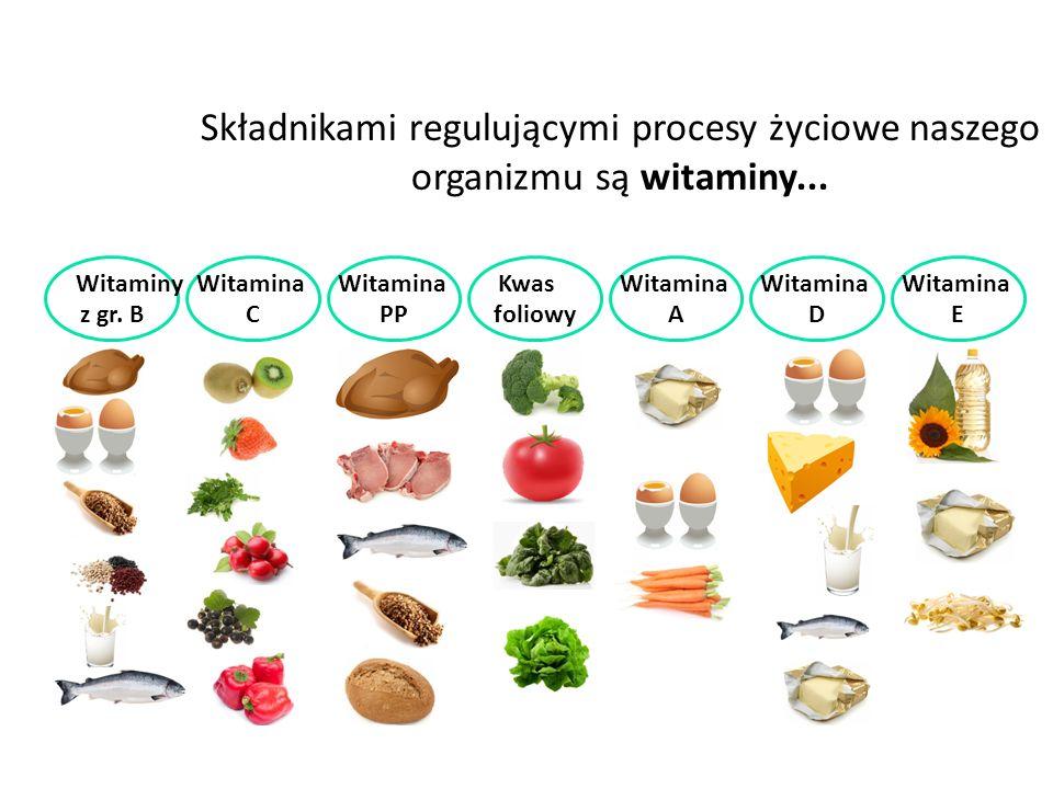 Składnikami regulującymi procesy życiowe naszego organizmu są witaminy...