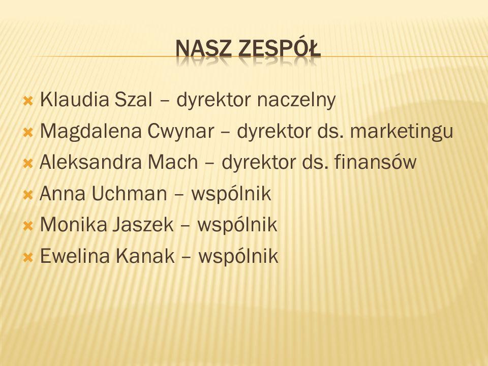  Klaudia Szal – dyrektor naczelny  Magdalena Cwynar – dyrektor ds.