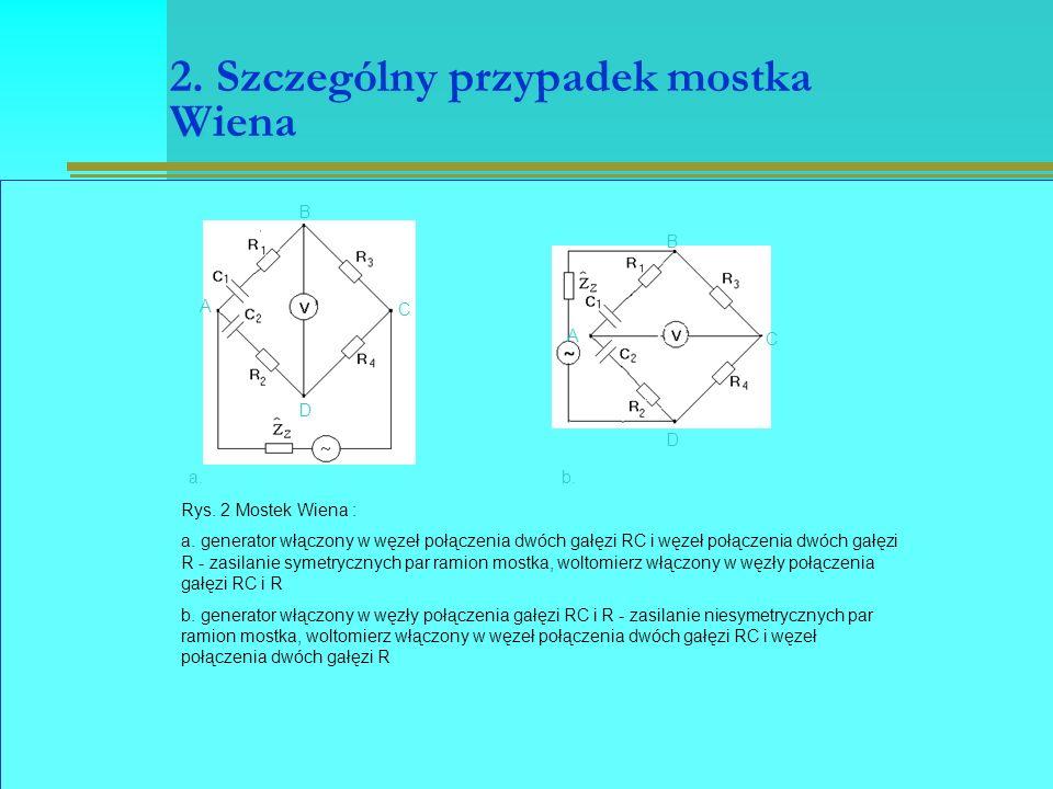 2. Szczególny przypadek mostka Wiena a.b. A B C D A B C D Rys.