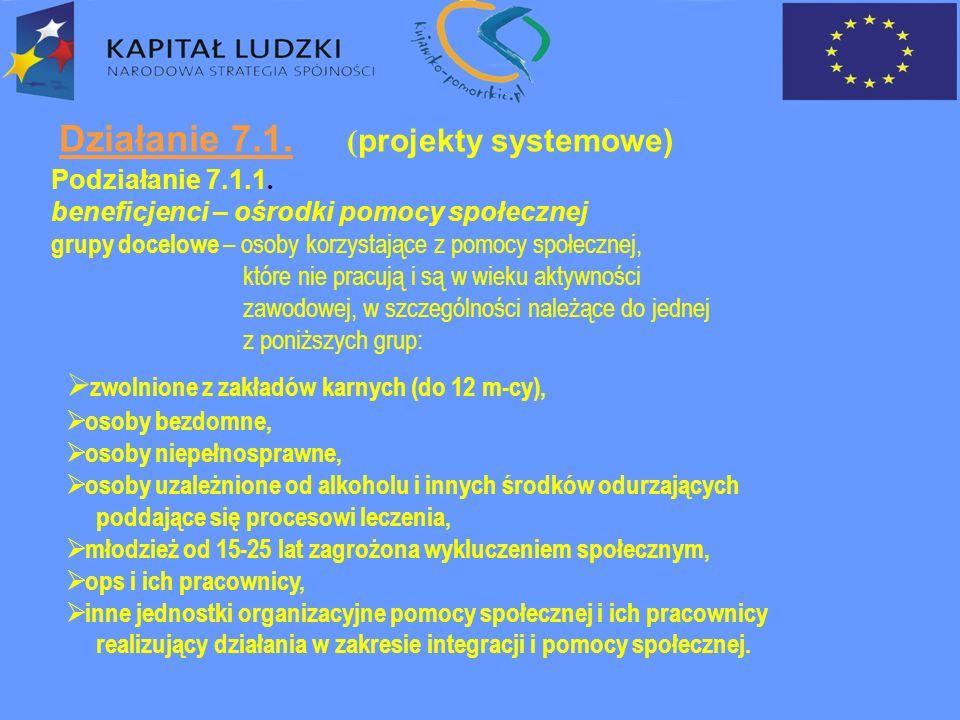Działanie 7.1.Podziałanie 7.1.1. – cd..