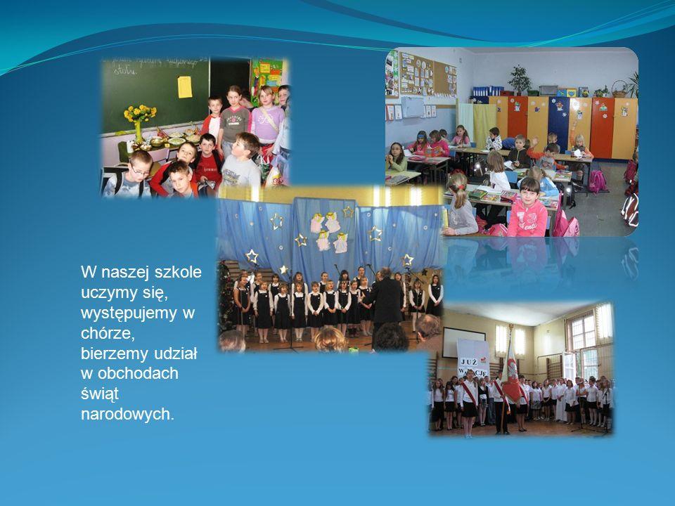W szkole czasami bawimy się, bierzemy udział w przedstawieniach, jeździmy na wycieczki i zielone szkoły.