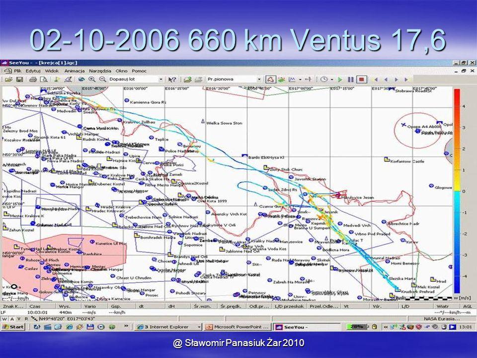 @ Sławomir Panasiuk Żar 2010 02-10-2006 660 km Ventus 17,6