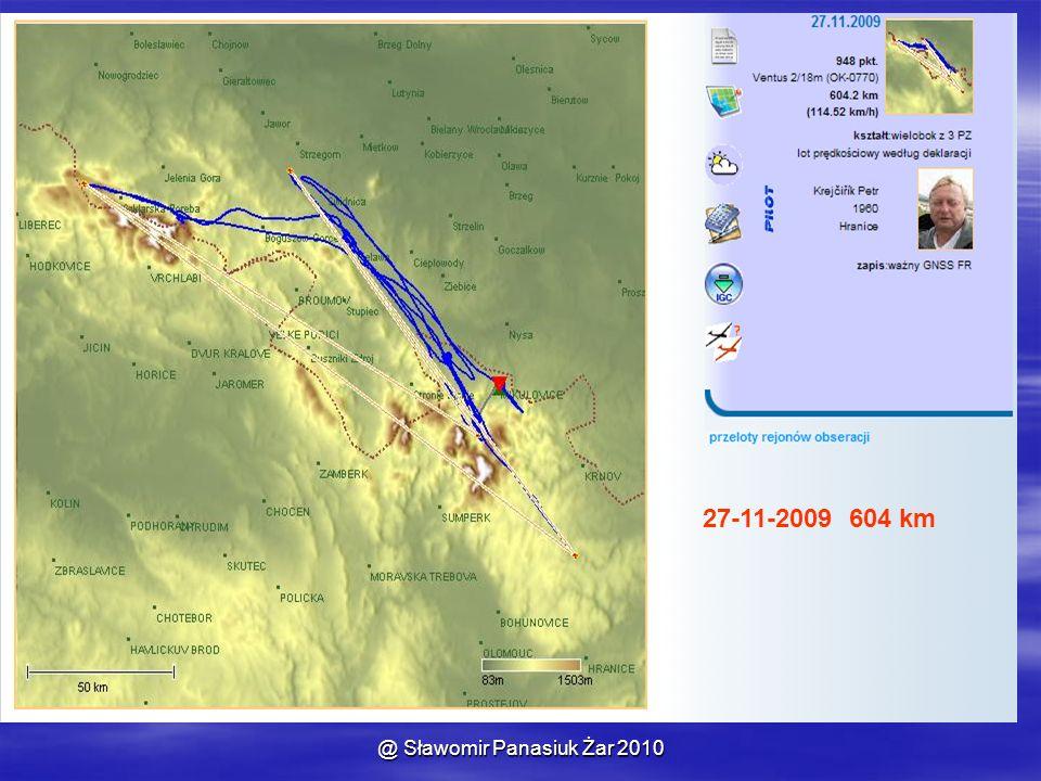 @ Sławomir Panasiuk Żar 2010 27-11-2009 604 km