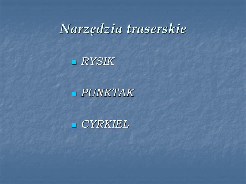 Narzędzia traserskie RYSIK RYSIK PUNKTAK PUNKTAK CYRKIEL CYRKIEL