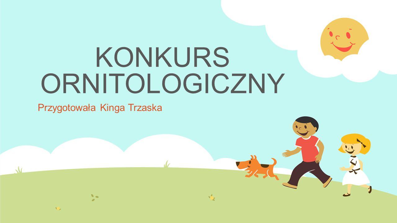 KONKURS ORNITOLOGICZNY Przygotowała Kinga Trzaska