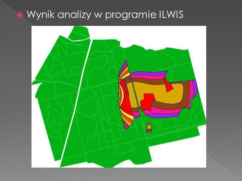  Wynik analizy w programie ILWIS