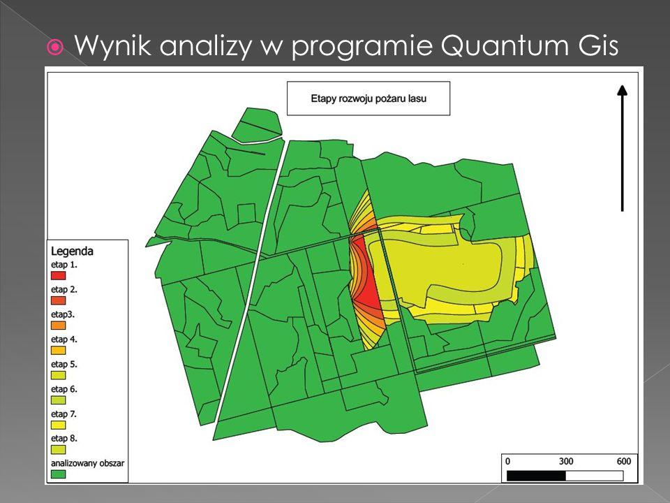  Wynik analizy w programie Quantum Gis