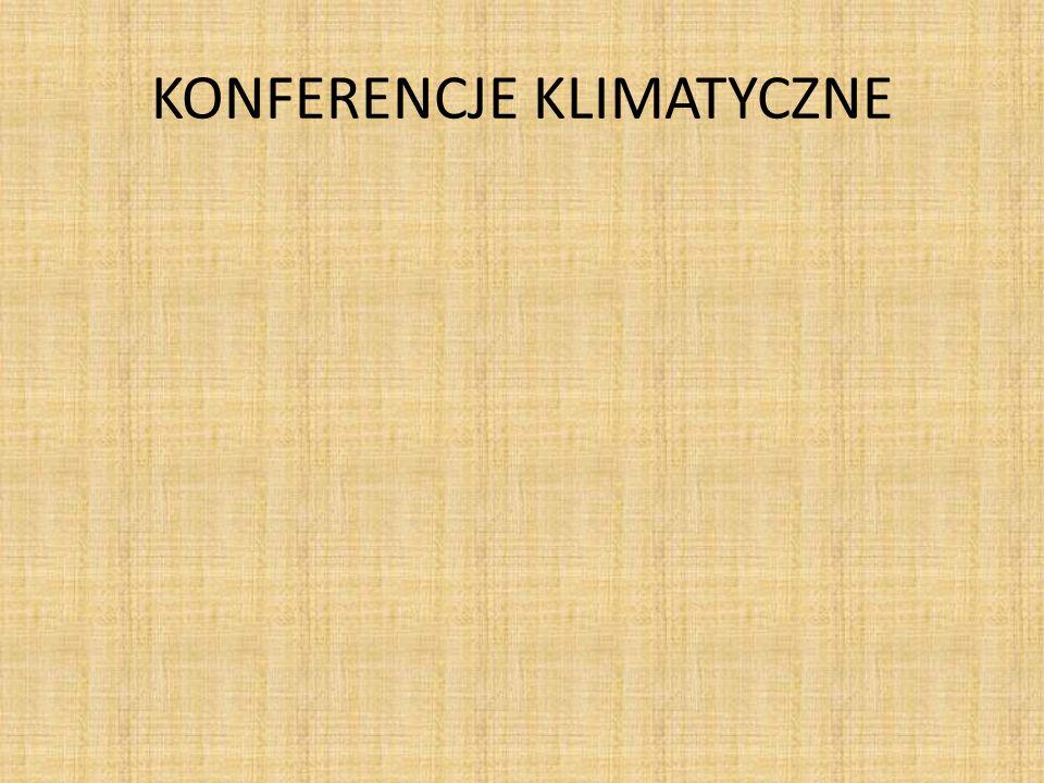 Pierwsza światowa Konferencja Klimatyczna została zorganizowana w 1979 roku i zaowocowała między innymi utworzeniem międzynarodowego zespołu do spraw Zmian Klimatu.