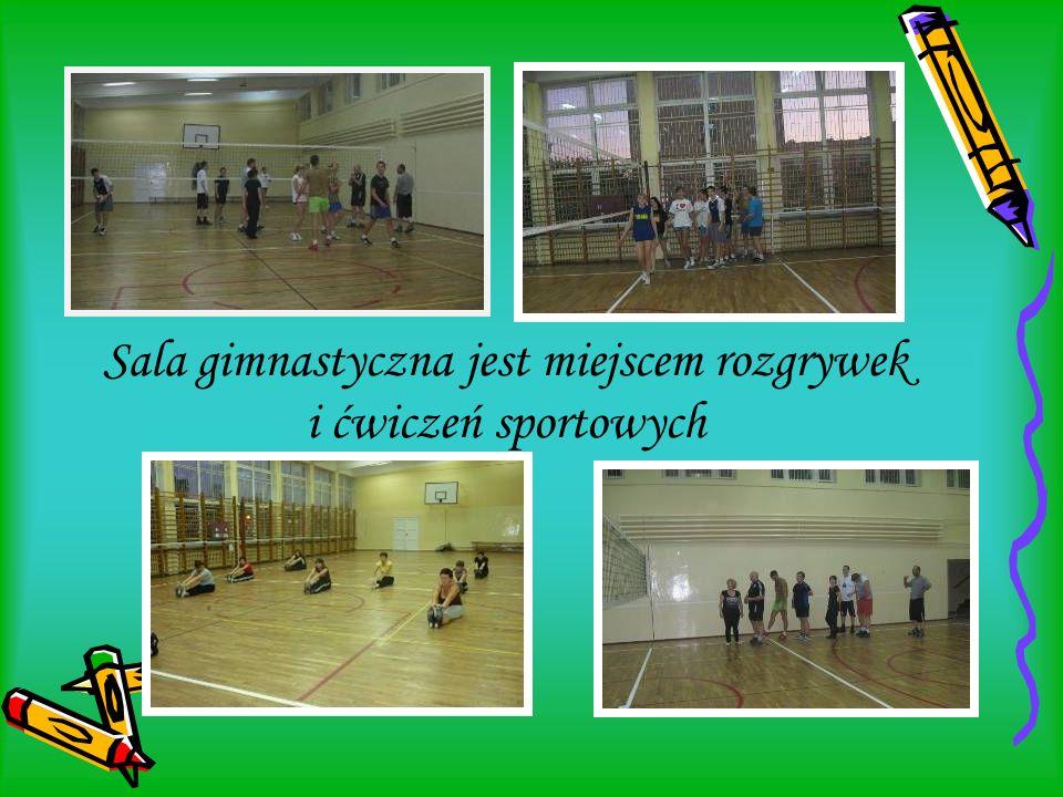 Sala gimnastyczna jest miejscem rozgrywek i ćwiczeń sportowych