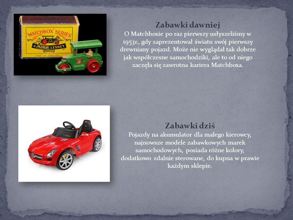 Zabawki dawniej O Matchboxie po raz pierwszy usłyszeliśmy w 1953r., gdy zaprezentował światu swój pierwszy drewniany pojazd. Może nie wyglądał tak dob