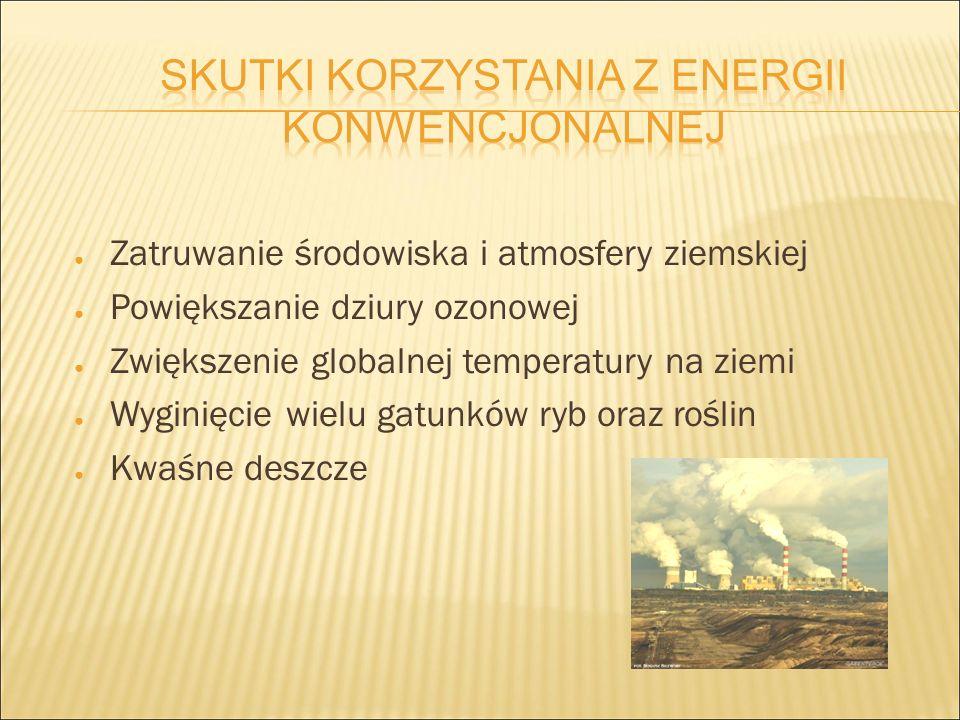 ● Zatruwanie środowiska i atmosfery ziemskiej ● Powiększanie dziury ozonowej ● Zwiększenie globalnej temperatury na ziemi ● Wyginięcie wielu gatunków