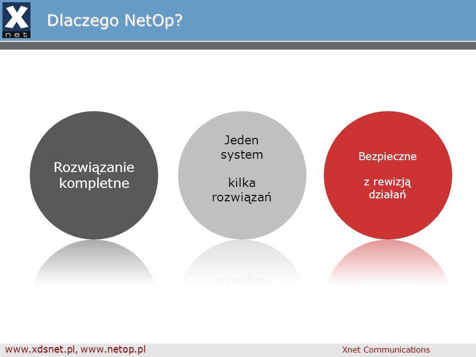 www.xdsnet.pl, www.netop.pl Xnet Communications Dlaczego NetOp