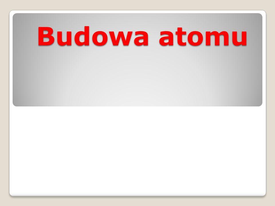Cząstki elementarne protony neutrony elektrony Nazwa cząstkiMasa [u] Symbol Miejsce w atomie proton1p, p + jądro neutron1n, n 0 jądro elektron1/1836e, e - powłoki
