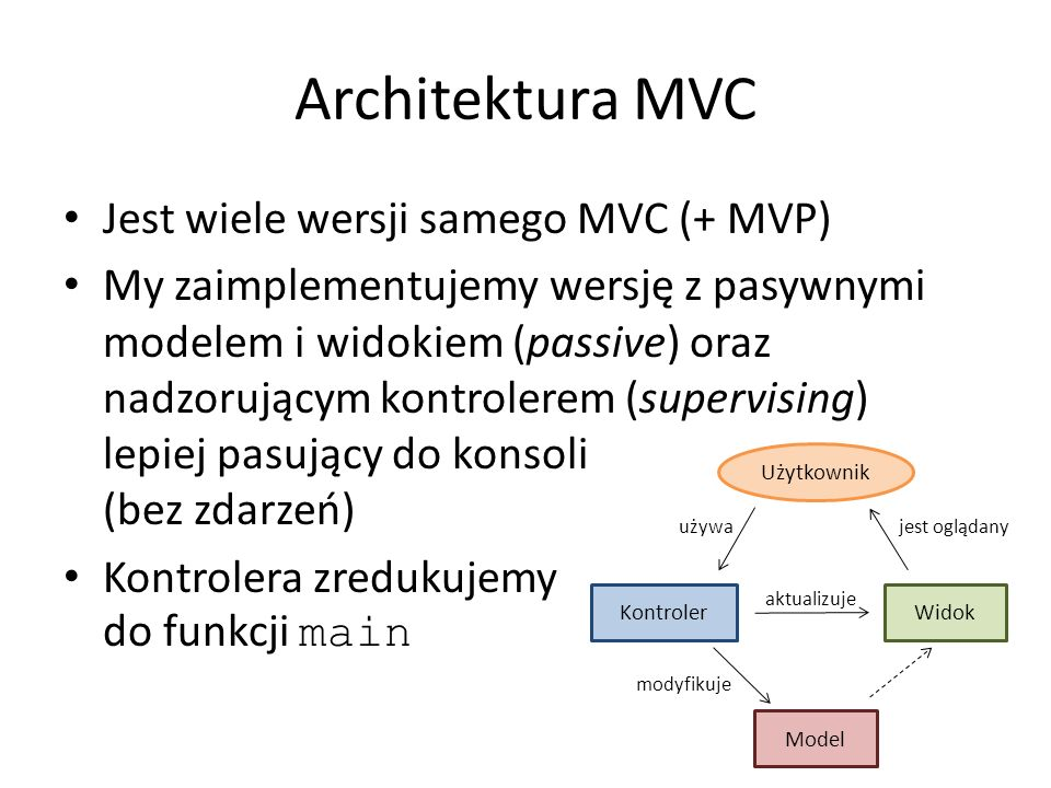 Fabryka abstrakcyjna (Abstract factory) Implementacja: Tworzymy nową klasę zawierającą zbiór metod wytwórczych tworzących poszczególne elementy labiryntu Nazwy używane w kontekście tego wzorca: FabrykaLabiryntu – Abstract factory StandardowaFabrykaLabiryntu – Concrete factory, fabryka konkretna Labirynt – Abstract product StandardowyLabirynt – Concrete product Kontroler – Client