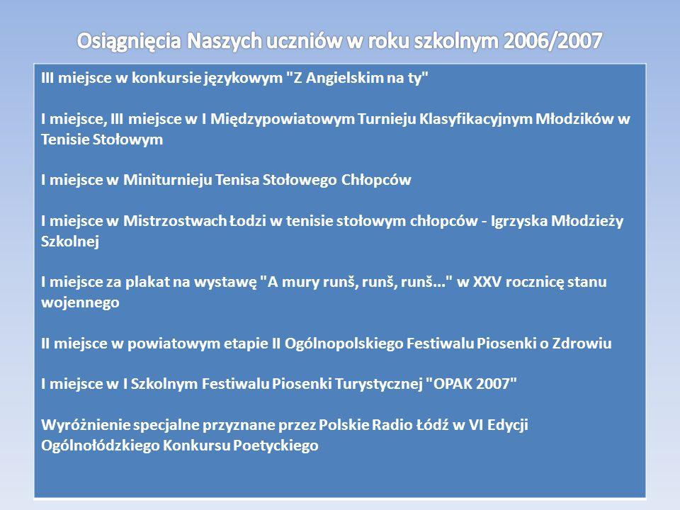 III miejsce w konkursie językowym
