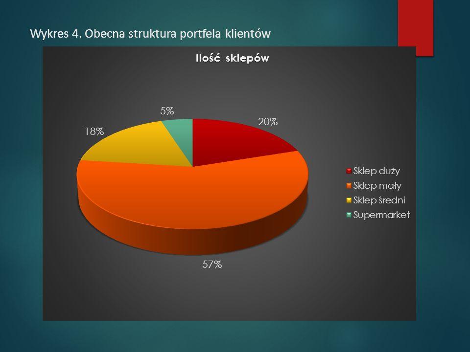 Wykres 4. Obecna struktura portfela klientów