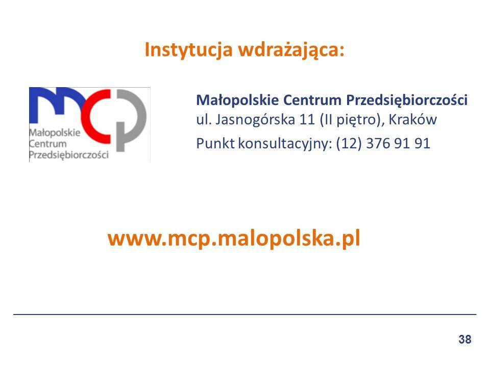 Małopolskie Centrum Przedsiębiorczości ul.