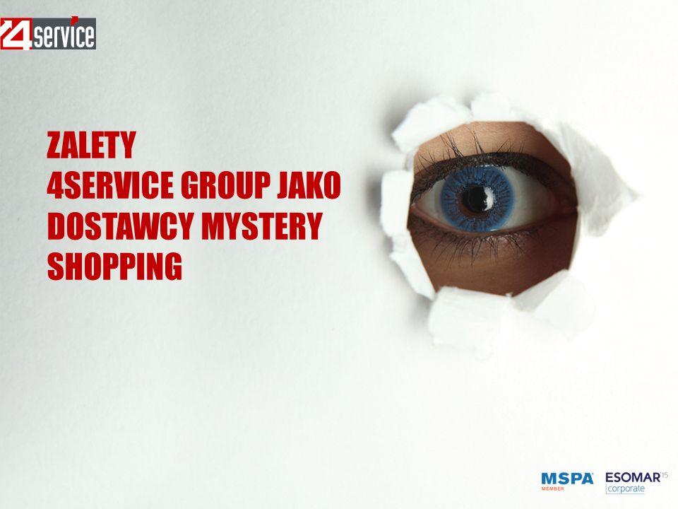 ZALETY 4SERVICE GROUP JAKO DOSTAWCY MYSTERY SHOPPING