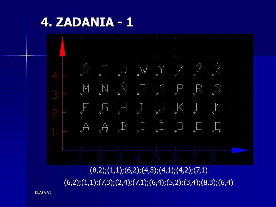 KLASA VI 4.ZADANIA -2 Połącz punkty i napisz co to jest za przedmiot.