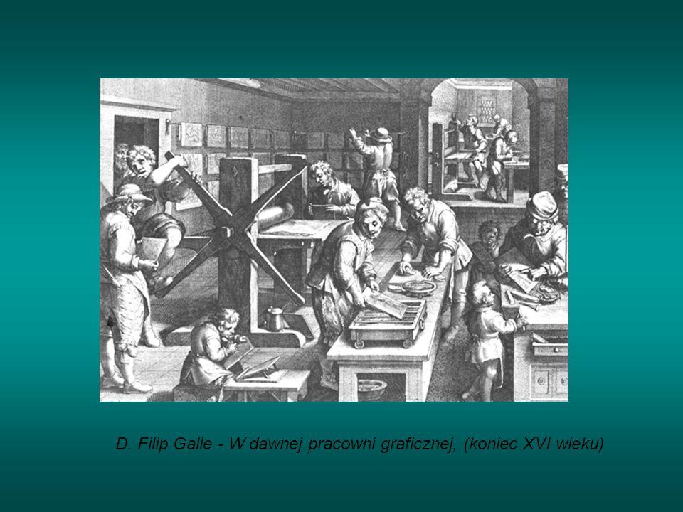 D. Filip Galle - W dawnej pracowni graficznej, (koniec XVI wieku)